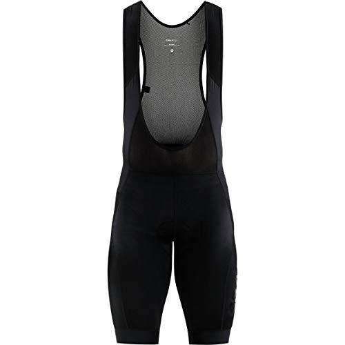 (Craft Men's Essence Stretch Cycling Bike Bib Shorts with C3 Chamois Pad, Black,)