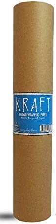 "Kraft Brown Wrapping Paper Roll 18"" x 1,200"" (100 toes) – 100% Recyclable Craft Construction and Packing Paper for Use in Moving, Bulletin Board Backing and Paper Tablecloths"
