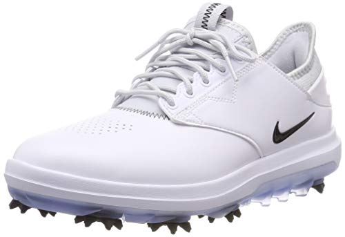 - Nike Men's Golf Air Zoom Direct Shoes, White/Black-Metallic Silver, 8 M US