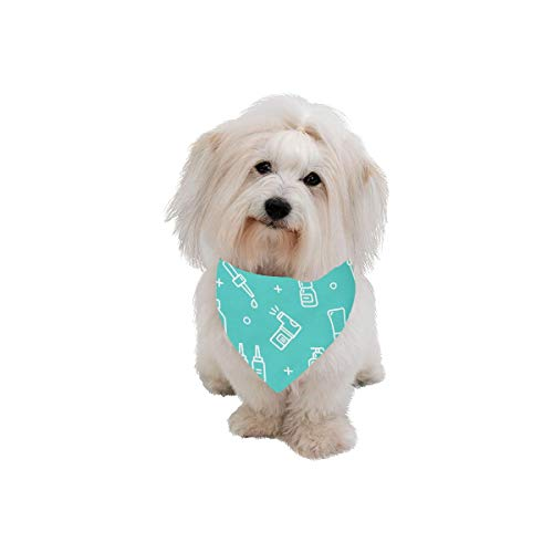 Vaccine Triangle - VNASKL Easter Pet Dog Cat Bandana Capsule Medicine Creative Design Medicine Fashion Printing Bibs Triangle Head Scarfs Kerchief Accessories for Large Dog Cat Pet Birthdays Party Gifts