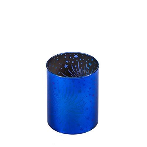 - Evergreen Garden Stargazing Blue Fireworks 3 x 4 in Glass Cylinder