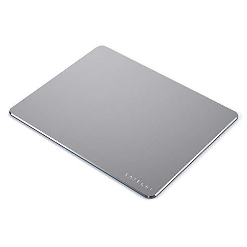 Satechi Aluminum Mouse Pad with Non-Slip Rubber Base - Compatible with Computers, Laptops and Desktops (Space Gray)