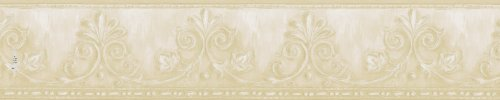 - Brewster 418B122 Borders and More Leaf Scroll Wall Border, 5.125-Inch by 180-Inch