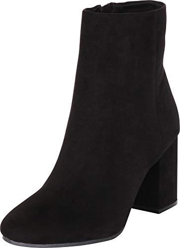Cambridge Select Women's Classic Chunky Block Heel Ankle Bootie,6.5 B(M) US,Black IMSU ()