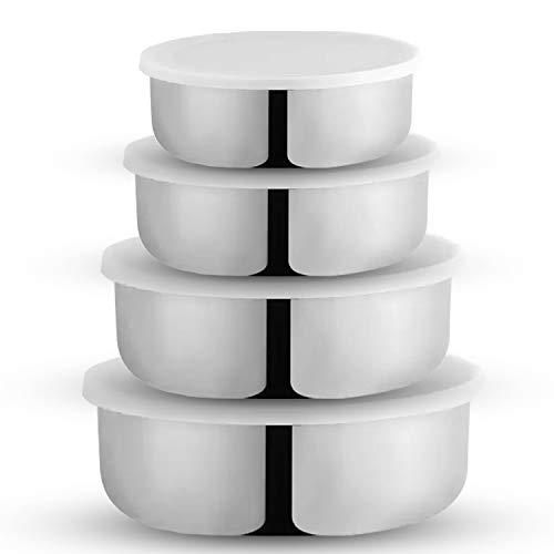 WIBSIL 4 Pcs Stainless Steel Lid Bowl Set