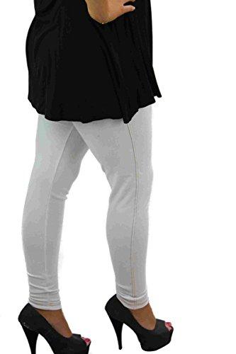 s.f Jeans - Uni - 100 DEN - Femme Blanc