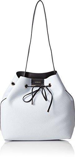 Guess Bobbi, Borsa a Spalla Donna, 11.5x31.5x31.5 cm (W x H x L) Multicolore (White Black)