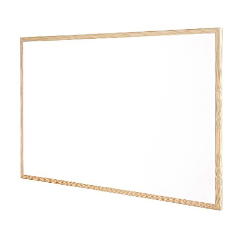 QCONNECT WHITEBOARD WOODFRAME 120X90CM