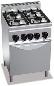 Cocina de gas de 4 fuegos (12,4 kW) + horno de gas (3,5 kW).: Amazon.es: Grandes electrodomésticos