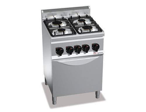 Cocina de gas de 4 fuegos (12,4 kW) y horno de gas (3,5 kW ...