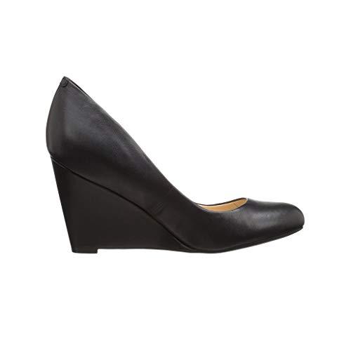 Day Fermé Des Femmes Compensé Talon Chaussures Bout Chaussures Tête Black Chaussures Habillées Élégant Confortable Ronde Long Portant Simples RRn6qtPw