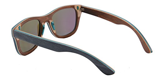 SHINU Handmade Wood Glasses Anti-Glare Polarized Wooden Sunglasses- Z68003 6 NATURAL WOOD-Genuine Wood Bamboo from Sustainable Resources. POLARIZED LENSES-Polarized UV400 Lenses Against Harmful UVA/UVB Rays. HIGH END HANDICRAFTS-Each Frame is Polished and Coated with A Water/Sweat Protective Layer.