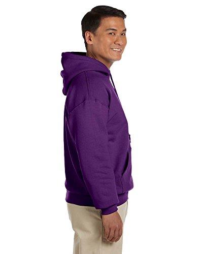 - Gildan Men's Rib Knit Pouch Pocket Hooded Sweatshirt, Purple, Medium