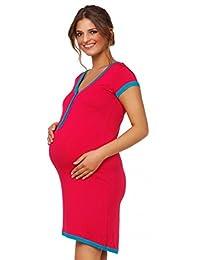 Happy Mama. Womens Maternity Nursing Breastfeeding Nightdress Shirt Gown. 981p