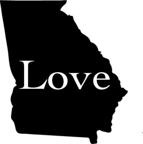 State Bumper Sticker WickedGoodz Vinyl Georgia State Love Decal Perfect State Pride Georgia Gift