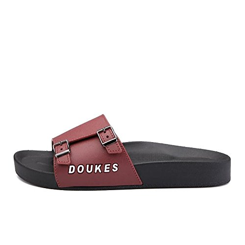 Blue Double 6 Mini Sandals Sunny Wide Band amp;Baby Fashion Size Brown with Slide Platform Durable MUS Slipper Color Metal Men's Buckles UU1WzBa