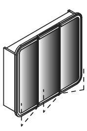 Lanzet Spiegelschrank 80 mit LED-Ring, Grafit