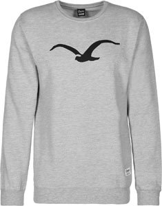 CLEPTOMANICX - - Homme - Pull Col Rond Möwe Gris pour homme - L