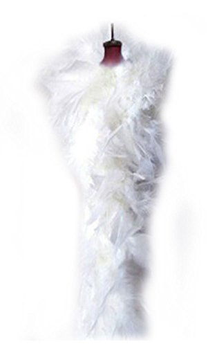 SACASUSA (TM) White Feather Chandelle Boa one size 6 feet long for $<!--$6.98-->