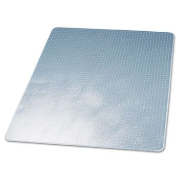 deflecto CM13443F DuraMat Moderate Use Chair Mat for Low Pile Carpet, Beveled, 46 x 60, (Duramat Vinyl Chair Mat)