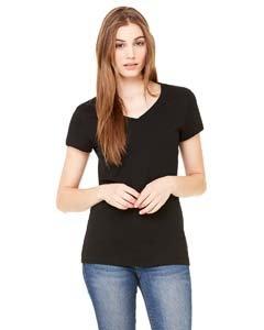 Bella Ladies Short-Sleeve V-Neck T-Shirt (6005)