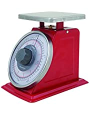 SAVANNAH SAV-0063 Mech Tare Function Scale, 5kg/20g, Red/Stainless Steel