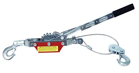 Torin Big Red Come-Along Double Gear Hand Cable Puller with 2 Hooks: 2 Ton (4, 000 lb) Capacity T32052