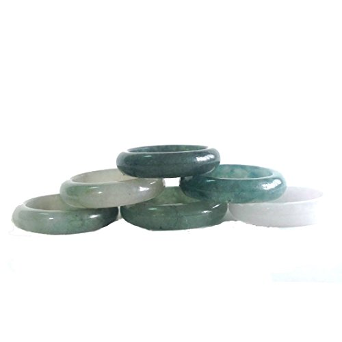 - KARATGEM Mixed Color Jadeite Jade Ring 4-5 mm US Size 4.5-12 (US Size 7)