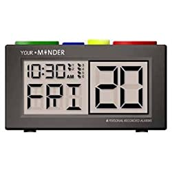 DeRoyal Recordable Talking Alarm Clock - Pill Reminder