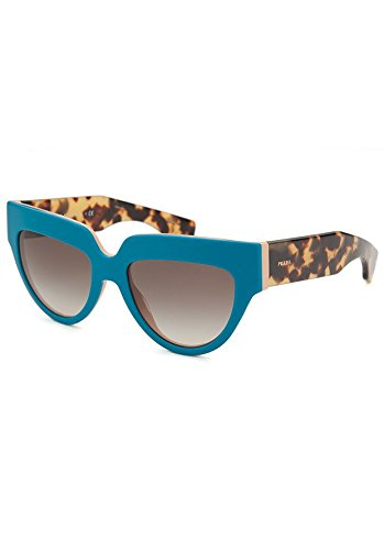 Prada 29PS SL00A7 Turquoise Tortoise and Peach 29PS Poeme Cats Eyes - Eye Cat Sunglasses Prada Tortoise