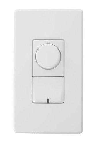 Renoir II Rotary, Ballast 0-10 V, Standard Heat Sink Dimmer, Narrow, 16 A, White - Leviton AWRMG-7DW