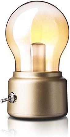 EMRE Lámpara de mesa de regalo, bombilla USB, lámpara de mesa, lámpara de mesa de cristal, creativa, dormitorio, estudio, sala de estar, pasillo, oficina, luz suave: Amazon.es: Hogar