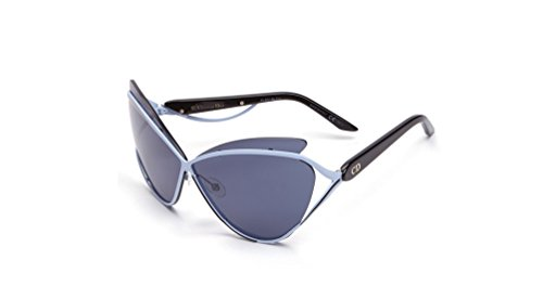Christian Dior Audacieuse 1/s Cat Eye Pale Blue Black Sunglasses - Eye Dior Sunglasses Cat Christian