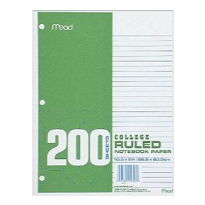 24 PACK - Of Mead College-Ruled Filler Paper, 200 Sheets(4800 SHEETS IN TOTAL) (C15326) by Mead