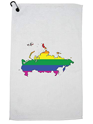 Hollywood Thread Russia Golf Towel with Carabiner Clip by Hollywood Thread