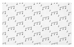 Ambesonne Music Doormat, Musical Notes Theme Melody Sonata Singing Song Clef Tunes Hand Drawn Style Pattern, Decorative Polyester Floor Mat with Non-Skid Backing, 30 W X 18 L Inches, Charcoal Grey