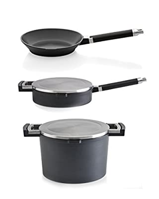 BergHOFF 5-Piece Neo Cast Aluminum Cookware Set, Black