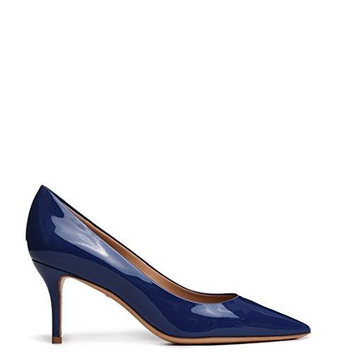 Escarpins 01F3880940634231 Cuir Femme Ferragamo Bleu Salvatore q8wX1xFEF