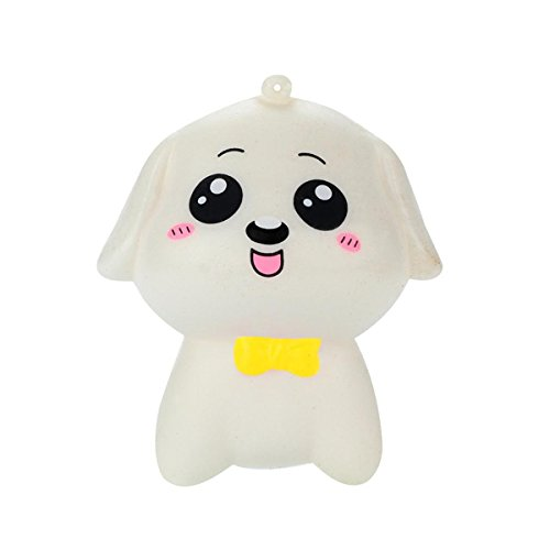 KESEELY Stress Reliever Scented Super Slow Rising Gift Cute Squeeze Toys Mini Dog Kids Toy (B) -