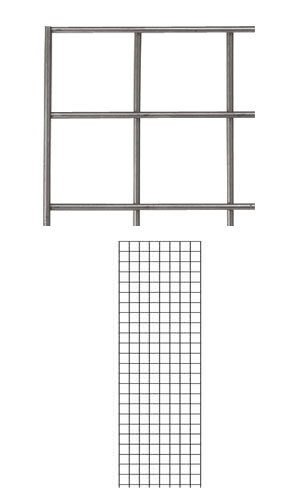 4 Pc New Retails Raw Steel Finish Wire Grid Wall Panel 2' x 6' by Grid Wall Panel