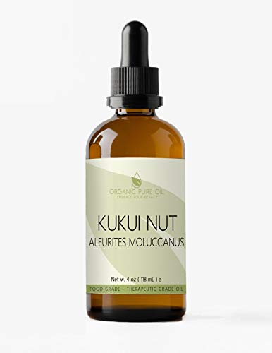 - Kukui Nut Oil 4 oz 100% Pure Natural Extra Virgin Unrefined Cold Pressed Premium Pharmaceutical Top Grade A By Organic Pure Oil