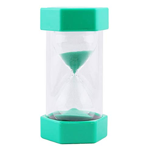 30 Minute Hourglass VEOLEY Sand Timer Large Security Sandglass 30 minute Sand Clock for Kids/Teacher/Classroom/Office 3.5 x 3.2 x 6.4 inches - Green