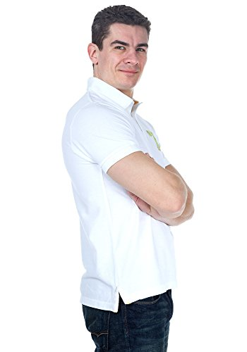 Legend & Soul Herren kurzarm Poloshirt Weiß PP41-White