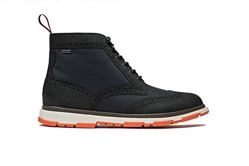 SWIMS Storm Brogue High Boot, Navy/Black/Orange, 11.5 by SWIMS