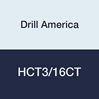 3//16 Drill America HCT3//16CT Carbide Tipped Reamer #40006