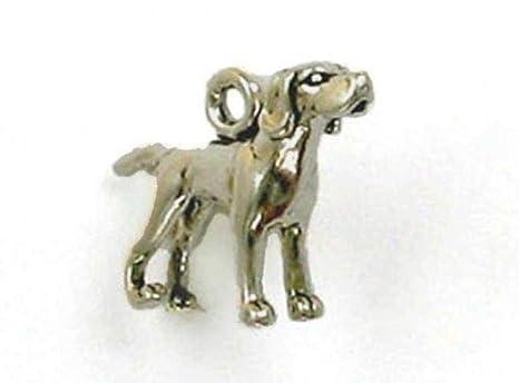 Abalorio de plata de ley con diseño de perro con puntero 3D ...