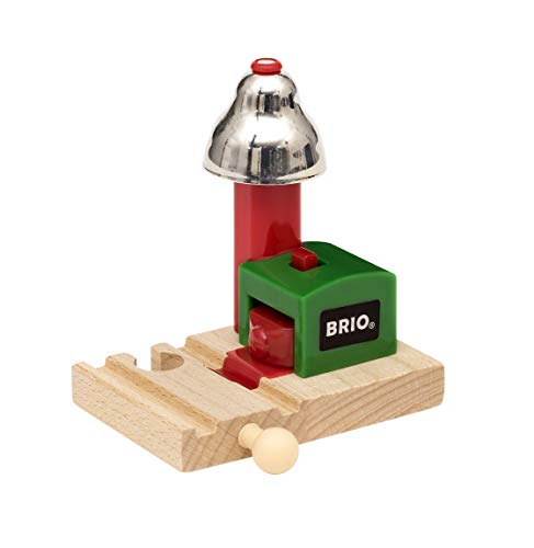BRIO World - 33754 Magnetic Bell Signal | Accessory for Toy Train Sets for Kids Ages 3 and Up - Model Train Crossing