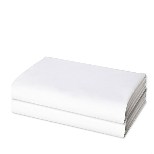 Premium Hotel Wholesale Pack of 2 Pieces Flat Sheets - Luxurious & Soft Full (Double) Size White Top Sheets - Best Quality Brushed Microfiber Linen - Hypoallergenic Bedding Bedroom Essentials