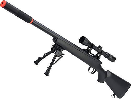 Evike CSI VSR-10 G-SPEC Cycling Action Airsoft Sniper Rifle with Front-End Device