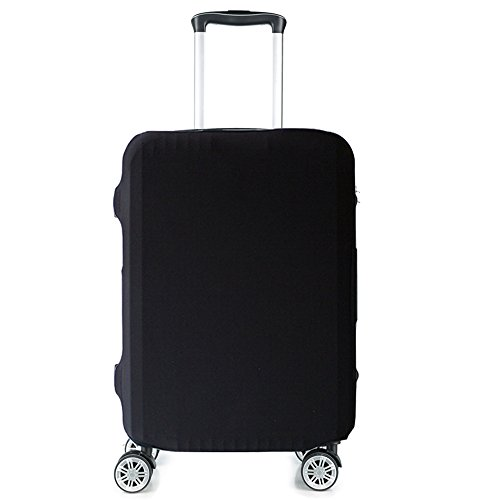 Black Suitcase - HoJax Spandex Travel Luggage Cover, Suitcase Protector Bag Fits 19-21 Inch Luggage Black